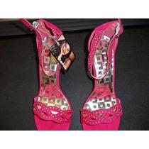 Bellas Sandalias Talla 40 Unas Rojas Y Unas Rosadas Pedreria