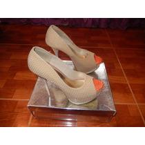 Zapatos Aishop Tacón Alto Beige, Perfectos Para Bailar