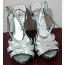 Elegantes Sandalias Plateadas Talla 39