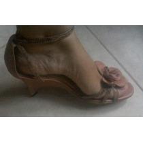 Sandalias Color Rosa Viejo Tacon Bajo