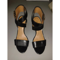 Zapatos Negros De Tacón Nine West Talla 35