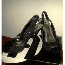 Sandalias De Noche Escarchadas
