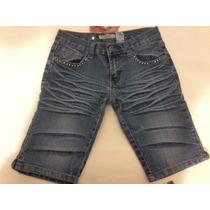 Pantalon Bermuda De Jeans Para Dama Marca Bacci