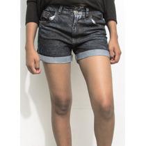 Short Altos Cortos Prelavados De Jeans Dama Al Mayor Y Detal
