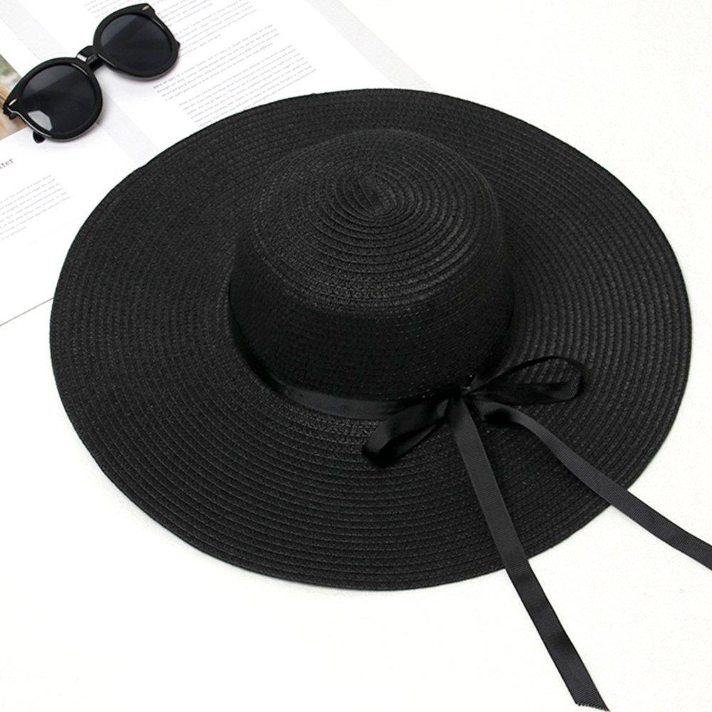 f4f6db3bdc2b6 Cargando zoom... sombrero de ala grande para mujer sombrero de paja plegable