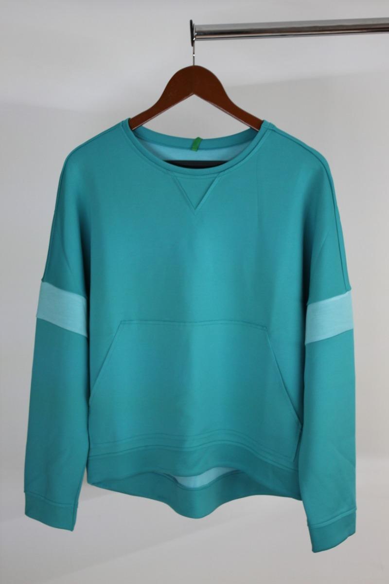 bajo precio d18cc 05c5b Mujer Sudadera Benetton Talla: Mediana Color Azul Aqua