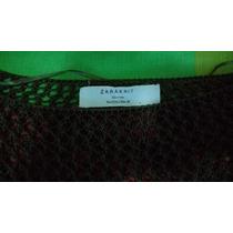 Sweater De Huecos Zara Talla L Verde Militar