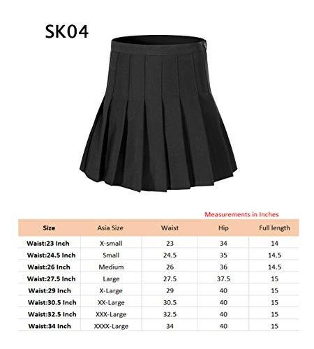 mujer talle alto sólido plisado faldas mini tenis solo slim