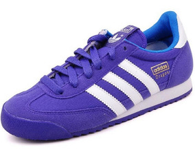 Mujer Tenis adidas Dragon Jr Originals Retro Gamuza Lila Gym