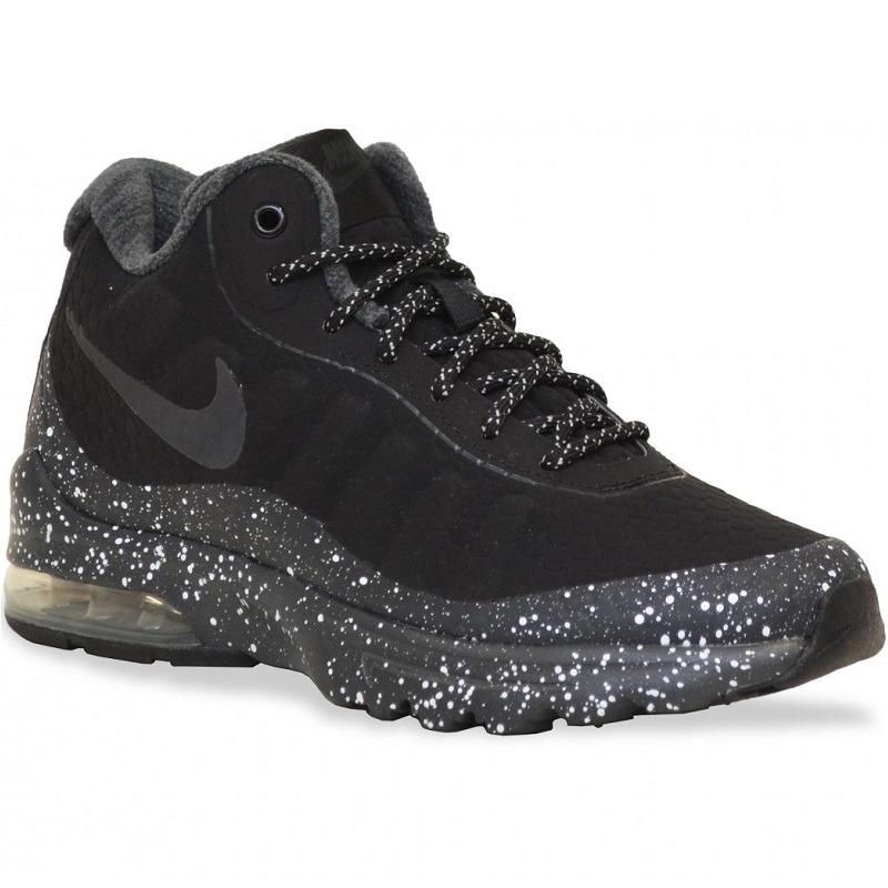 Mujer Tenis Nike Air Max Invigor Mid Botas Caminata Black ...