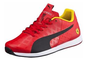 Mujer Tenis Puma Evospeed 1.4 Ferrari Rojo & Negro Niño Gym
