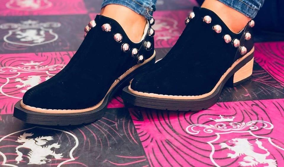 300680e55f Zapatos Bajos Mujer Texana Baja Tacha Moda 2018 Taco 150 -   1.150 ...