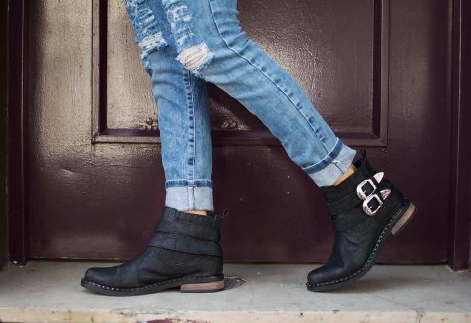 cfa3b565bc Zapatos Bajos Mujer Texana Baja Moda 2018 Taco Folia Afy -   1.418 ...