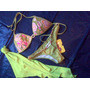 3 Pzas ! T D Baño Bikini Sirena Verde Manzana Licra Importad