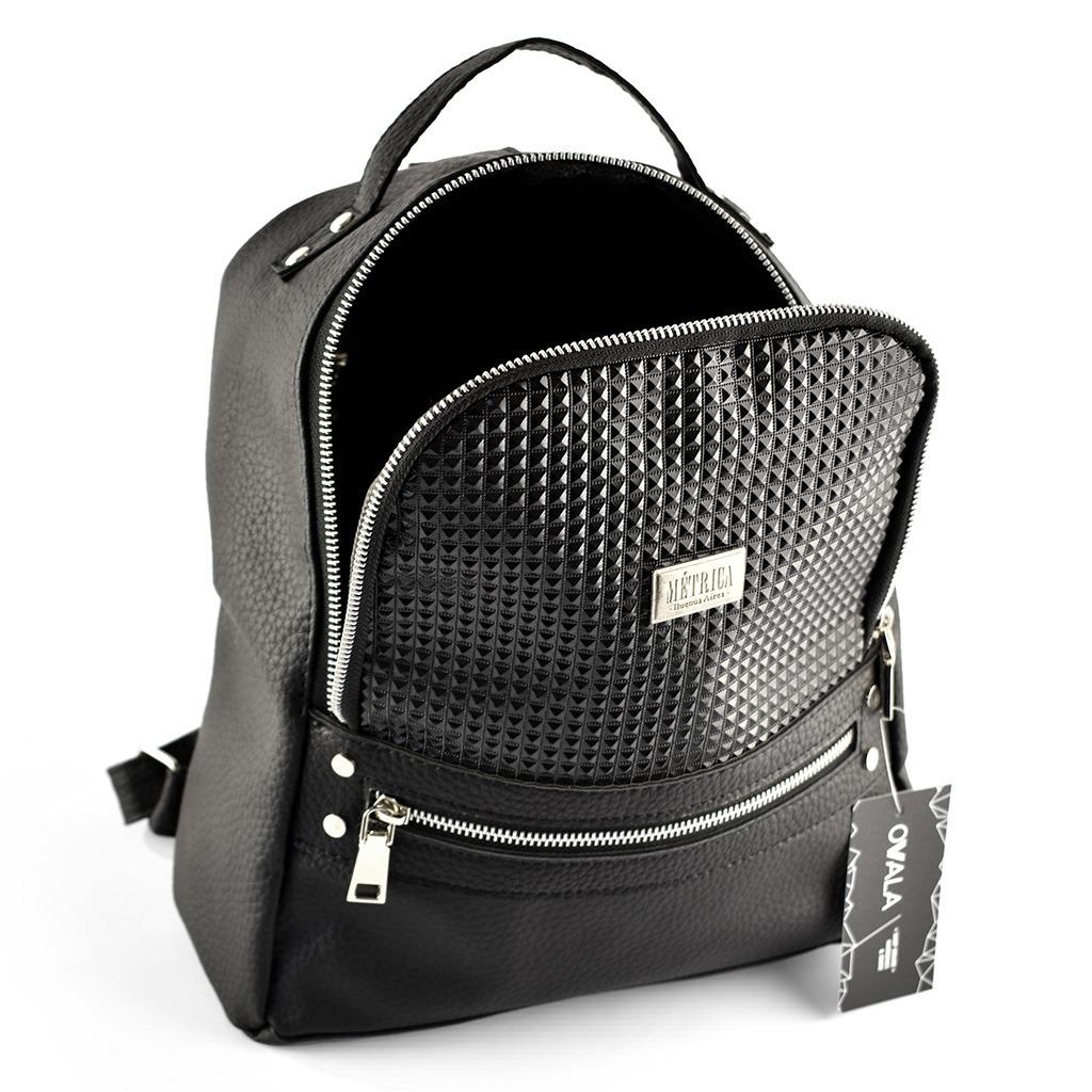97a5404af Cargando zoom... mochilas mujer símil cuero urbanas negras métrica textura