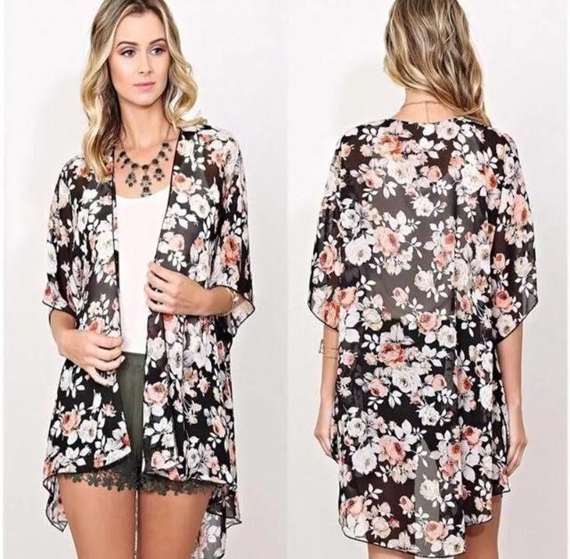 ad6b60fd44fa8 Mujer Verano Kimono Cardigan -   8.000 en Mercado Libre