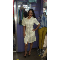Guayabera Vestido M/c 100% Lino
