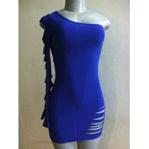 Sexy Vestido Color Azul Rey Talla S Importado