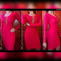 Vestido Enterizo Conjunto Animal Print Unicolor Rojo Negro
