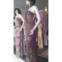 Vestido Formal De Gala Importado Color Chocolate