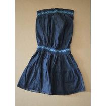 Vestido Corto De Blue Jean