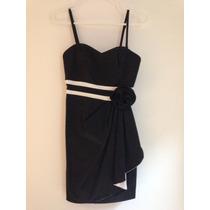 Vestido Negro De Fiesta Marca Forever Xxi Original! Talla S
