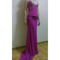 Vestido De Gala O Noche Como Nuevo; Corcel Fucsia Talla S