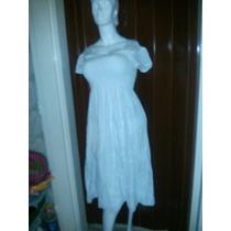 Vestido Blanco Playero, Vestido Hindu Talla M