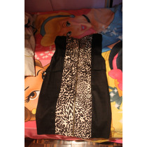 Vestido De Dama Strapless Animal Print Leopardo Talla Xs