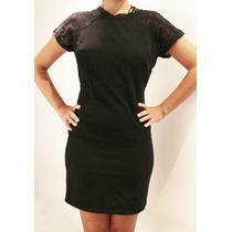 Liquidacion Vestido Negro Corto Para Dama Totalmente Nuevo