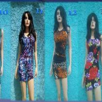 Vestidos Cortos Sexys Talla Unica - Spandex - Nylon