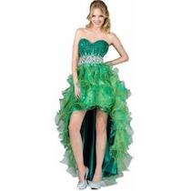 Vestido De Gala Tail Hem Con Pedrería Importado