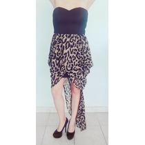 Vestido Corto Animal Print Talla S-m