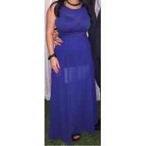 Vestido Largo Elegante De Fiesta Azul, Coctel, Graduación.