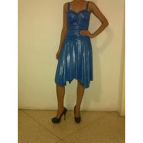 Vestido Corto Tipo Coctel Color Azul Brillante