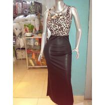 Vestidos Elegante Negro Con Animal Print