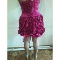 Vestido De 15 Años Nuevo Tela Raso Novia 2 Vestidos En Uno