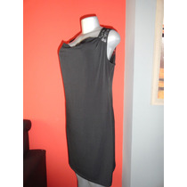 Vestido Tipo Coctel Marca Spence Corto Negro Encaje Usa