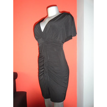 Vestido Tipo Coctel Enfocus Studio Corto Negro Faralado Usa