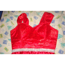 Hermoso Vestido Largo Rojo Elegante De Corset, Busto 38c