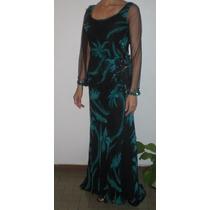 Espectacular Vestido De Fiesta Xl / Xxl (medidas Publicadas)