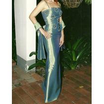 Vestido De Noche Tipo Corset Pedrería Con Falda Sirena T S