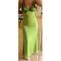 Vestido Chiffón Elegante De Fiesta Largo Dama (usado 1 Vez)