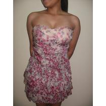 Vestido Corto Semiformal Con Flores