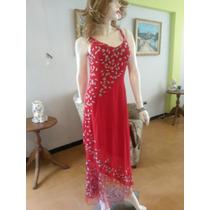 Vestido Rojo Muy Elegante Para Fiestas Y Bodas Talla M