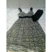 Vestido Formal Corto Talla S Con Bufanda (usado)