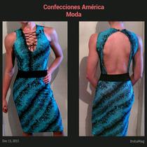 Vestidos Animal Print Escote Pronunciado En Espalda