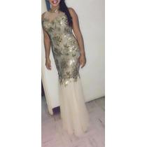 Vestido De Noche Gala, Largo Y Elegante