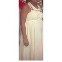 Vendo Vestido Color Champagne Prenatal Y Mujeres Talla Plus