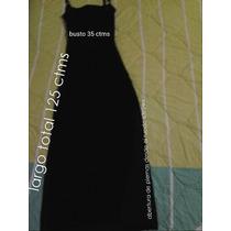 Impecable Vestido Largo De Fiesta/ Negro Talla L